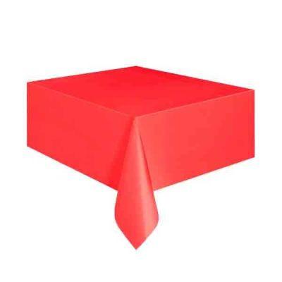 Düz Kırmızı Masa Örtüsü (137x183 cm) 1'li Paket