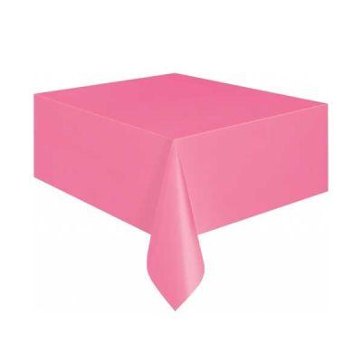 Düz Pembe Masa Örtüsü (137x183 cm) 1'li Paket