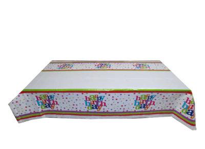 Happy Birthday Masa Örtüsü (108x180 cm) 1'li Paket
