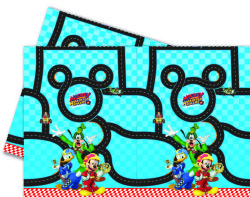 - Mickey Roadster Masa Örtüsü (120x180 cm) 1'li Paket