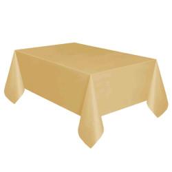 - Altın Plastik Masa Örtüsü (137x270 cm) 1'li Paket