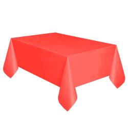 - Kırmızı Plastik Masa Örtüsü (137x270 cm) 1'li Paket