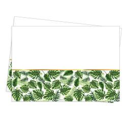 - Altın Simli Yapraklar Plastik Masa Örtüsü Yeşil (120x180 cm) 1'li Paket