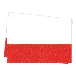 - Parti Zamanı Plastik Masa Örtüsü Kırmızı (120x180 cm) 1'li Paket