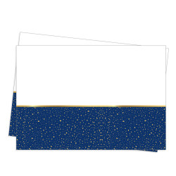 - Parti Zamanı Plastik Masa Örtüsü Lacivert (120x180 cm) 1'li Paket