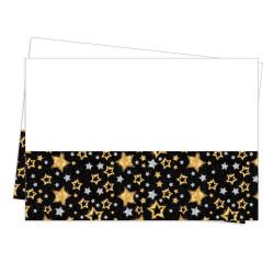 - Masa Örtüsü Plastik Yıldızlar Siyah (120x180 cm) 1'li Paket