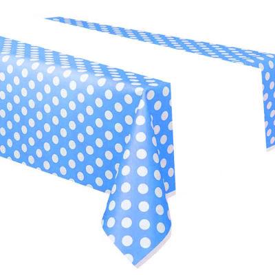 Puanlı Mavi Masa Örtüsü (108x180 cm) 1'li Paket
