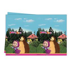 - Masha ve Koca Ayı Plastik Masa Örtüsü (120x180 cm) 1'li Paket