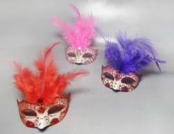 - Gözlük Modeli Süslü Pembe Maske