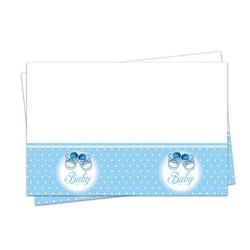 - Mavi Patikler Plastik Masa Örtüsü (120x180 cm) 1'li Paket