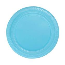 - Mavi Plastik Tabak (22cm) 25'li Paket