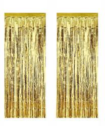 - Metalize Fon Süsü 50x230 cm 2 Li Set Altın