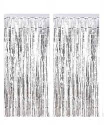 - Metalize Fon Süsü 50x230 cm 2 Li Set Gümüş