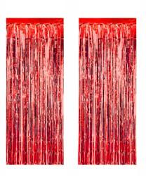 - Metalize Fon Süsü 50x230 cm 2 Li Set Kırmızı
