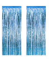 - Metalize Fon Süsü 50x230 cm 2 Li Set Mavi