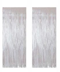 - Metalize Fon Süsü 50x230 cm 2 Li Set Beyaz