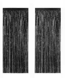 - Metalize Fon Süsü 50x230 cm 2 Li Set Siyah