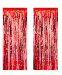 - Metalize Fon Süsü Asmalı Kırmızı