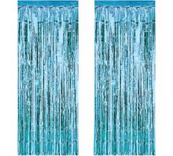 - Metalize Fon Süsü Asmalı Yerli Mavi Pk:2 Li Kl:50