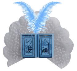 - Mevlüt Şekeri Süslü Kitap Ayet Plastik Mavi Pk:50
