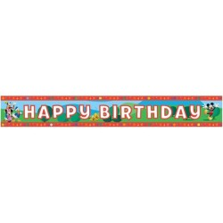 - Mickey Club House Birthday Folyo Banner