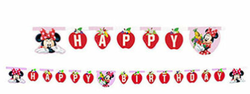 - Minnie Çilek Happy Birthday Harf Afiş