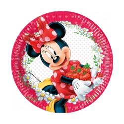 - Minnie Çilek Kağıt Tabak (23 cm) 8'li Paket