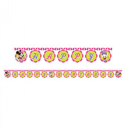 - Minnie Pembe Fiyonklu Happy Birthday Harf Afiş
