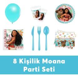 - Moana Doğum Günü Seti Eko Set 8 Kişilik