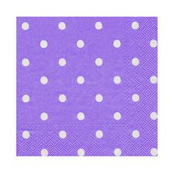 - Puanlı Mor Kağıt Peçete (33x33 cm) 20'li Paket