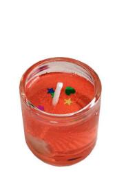 - Deniz Ürünlü Camdan Büyük Rengarenk Jel Mum 6'lı Paket