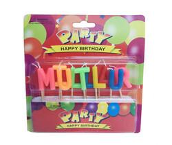 - Mum Mutlu Yıllar Kürdanlı Set Karşık Renk P1-144