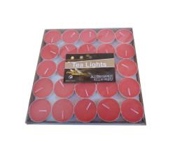 - Mum Tealight Pk 50 Li 6gr Kırmızı