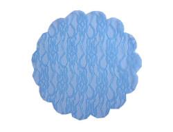 - Organze Dantel Desenli Mavi 22cm