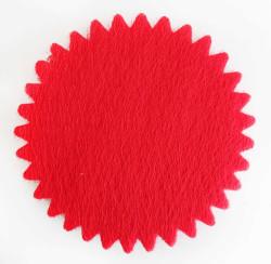 - Organze Fileli Yuvarlak 24 Cm Kırmızı
