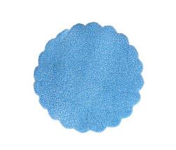 - Organze Karlı 18cm Mavi
