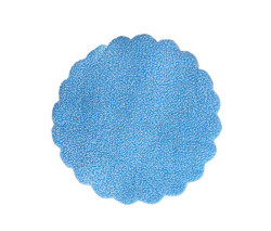 - Organze Karlı 20cm Mavi