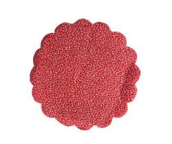 Organze Karlı 22cm Kırmızı - Thumbnail