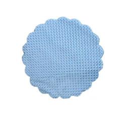 - Organze Puantiyeli Mavi 22cm