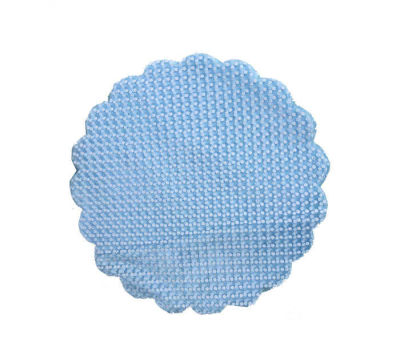 Organze Puantiyeli Mavi 22cm