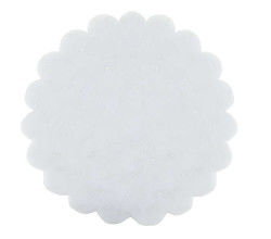 Organze Taşlı 22 Cm Beyaz
