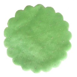 - Organze Taşlı 22 Cm Fıstık Yeşili