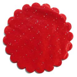 - Organze Taşlı 22 Cm Kırmızı P100-100