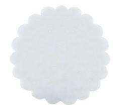 - Organze Taşlı 24 Cm Beyaz