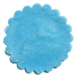 - Organze Taşlı 24 Cm Mavi