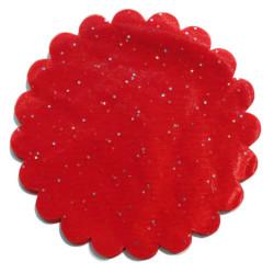 - Organze Taşlı Kırmızı 26cm