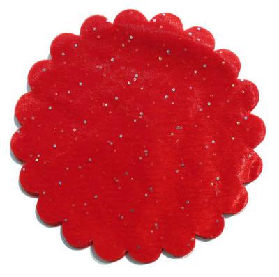 Organze Taşlı Kırmızı 26cm