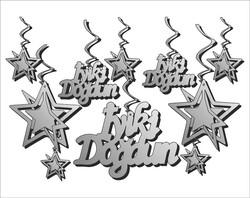 - Orta Süs 3 Boyutlu İyiki Doğdun Gümüş Pk:10 Lu Set