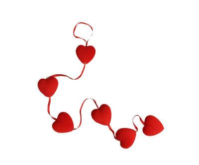Kalp Flok Kaplama Büyük 6 Lı Set Süs