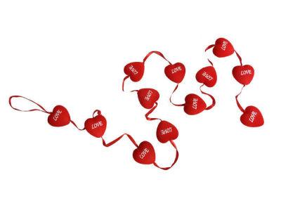Kalp Flok Kaplama Love 12 Li Set Süs